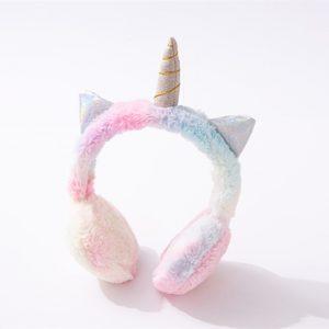 Tie-dye Unicorn Fluffy Headphones