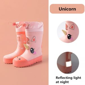 Unicorn Cartoon Children Rain Boots