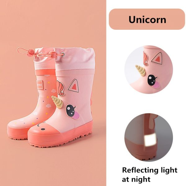 Unicorn Cartoon Children Rain Boots
