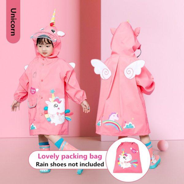 Unicorn Waterproof Rainwear For Kids