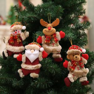 Year Christmas Ornaments DIY Xmas Gift Santa Claus Snowman