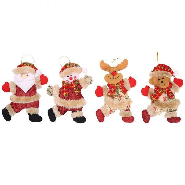 Year Christmas Ornaments DIY Xmas Gift Santa Claus Snowman