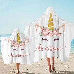Be Unique Be Unicorn Hooded Towel