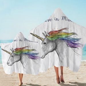 Believe In Miracle Unicorn Hooded Towel