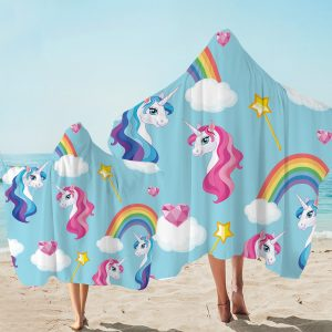 Blue Sky Unicorn Hooded Towel (Copy)