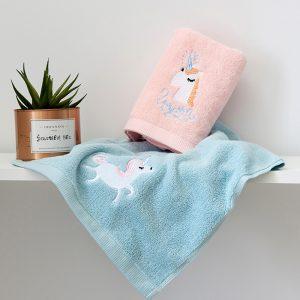 Cotton Cute Unicorn Bath Towel