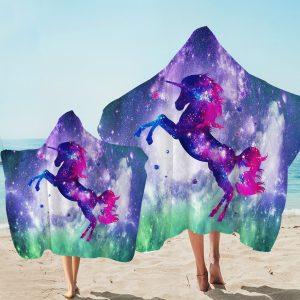 Galaxy Unicorn Hooded Towel