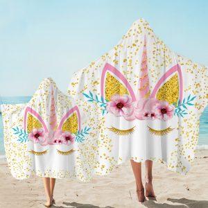 Bling Star Unicorn Hooded Towel