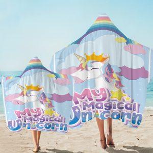 Magical Unicorn Hooded Towel