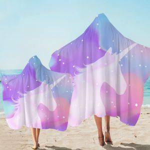 Pastel Galaxy Unicorn Hooded Towel