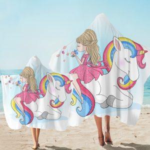 Pink Unicorn Emoji Hooded Towel (Copy)