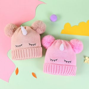 Unicorn Fluffy Winter Beanies Hat
